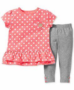 Carter's Baby Girls' 2-Piece Top & Leggings Set