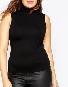 Image 3 of ASOS CURVE Sleeveless High Neck Top