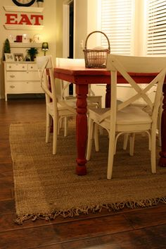 red table!  perhaps this is the solution to my bland kitchen!