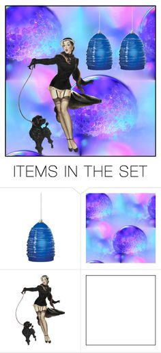 """""""getting  visions of a woman walking a dog.... who is she?"""" by awewa ❤ liked on Polyvore featuring art"""