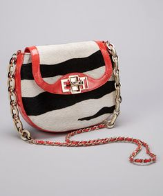 Take a look at this Zebra Print Haircalf Kathleen Crossbody Bag by Elaine Turner on #zulily today! $180 !!
