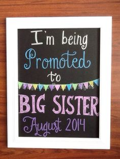 I'm Being Promoted to Big Sister Pregnancy by BugabooBearDesigns, $24.00