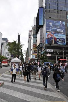 """Long before Psy's now infamous """"Gangnam Style"""" video became a viral hit, Gangnam was already one of our favorite neighborhoods in Seoul. South Korea Seoul, South Korea Travel, Korea Wallpaper, Travel Wallpaper, Seoul Photography, Korean Barbeque, Gangnam Seoul, Korean Picture, Japanese Streets"""