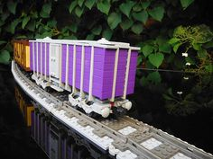 Purple Wooden Boxcar