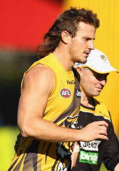 Richmond Tigers Training Session  best mullet in the AFL