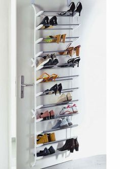 Schuhregal für die Tür Shoe rack for the door for €. Shoe rack to attach to the door, space saver for 36 pairs of shoes, keeps shoes well sorted and ready to hand at OTTO