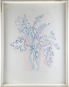 John Derian Company Inc — A Small Vase of Summer Flowers