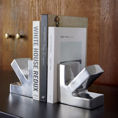 this end up arrow bookend | CB2