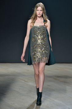 Trend: Dark Romance, Mary Katrantzou // Fall fashion 2014: 231 photos of the top 10 trends of the season http://www.fashionmagazine.com/fashion/2014/08/18/fall-fashion-2014-top-10-trends/