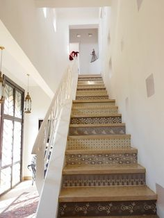Might be good to do something like this to the stairs as you walk in to ours as its right in front of you - amie