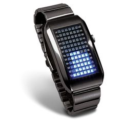 LED Matrix Watch -  Stand out, be envied and talked about for wearing this cool one-of-a-kind watch, that uniquely displays time through a matrix made up of 72 LEDs!