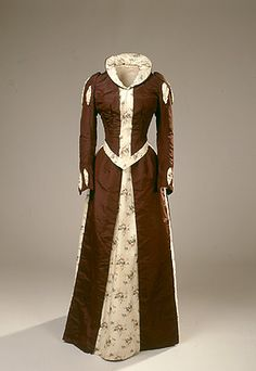 Renaissance inspired dress, 1880's.