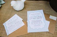 Amber + Sean's Rustic Wedding Invitations