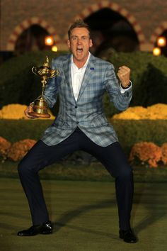 Ian Poulter at the Ryder Cup. Poulter is clutch, annoyingly so. Just wished he performed as well in the individual competitions.