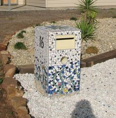 new letterbox with undersea mosaic