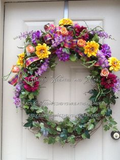 Hey, I found this really awesome Etsy listing at https://www.etsy.com/listing/150279810/xl-oval-floral-grapevine-wreath-spring