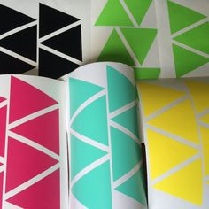 60 Triangle wall decal triangles stickers decor Envelope