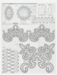 Irish lace, crochet, crochet patterns, clothing and decorations for the house, crocheted. Crochet Motifs, Form Crochet, Crochet Chart, Filet Crochet, Crochet Doilies, Crochet Flowers, Crochet Lace, Crochet Stitches, Bobbin Lace Patterns