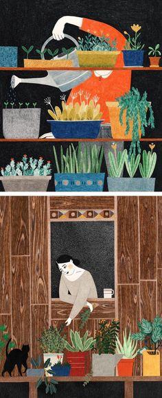 Illustration works by Lieke van der Vorst