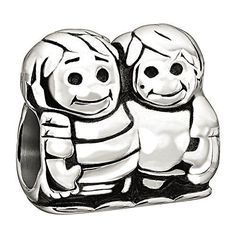 Brothers share an unbreakable bond. The Chamilia Brothers Charm can be worn as a lasting reminder of the brothers in your life. Crafted from .925 sterling silver, this heartwarming bead displays two s