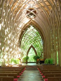 Mildred B. Cooper Memorial Chapel - Bella Vista, Arkansas - E. Famous Architecture, Sacred Architecture, Church Architecture, Organic Architecture, Concept Architecture, Beautiful Architecture, Architecture Details, Residential Architecture, Contemporary Architecture