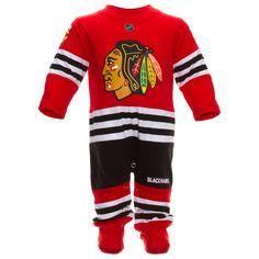 Chicago Blackhawks Infant Uniform Onesie by Reebok #Chicago #Blackhawks #ChicagoBlackhawks