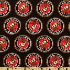 US Marine Corp Cotton Fabric Arts, Crafts & Sewing