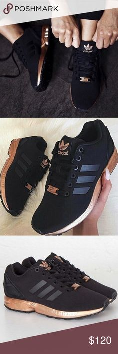 Adidas ZX Flux Gold/Copper * NEW* This sneaker is gorgeous and very comfortable. It runs a little large. This is a 7.5 but fits size 8. New with box. Adidas Shoes Sneakers
