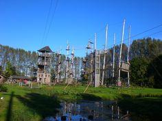 klimmen  in het Outdoorpark Hoornse Vaart, alkmaar
