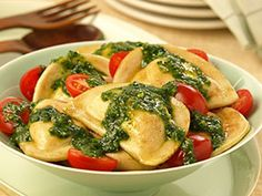 Spinach Pesto Pierogies  #MrsTsRepin2Win My daughter would love these she is a vegetarian