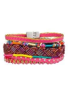 Bright woven and seedbead magnetic bracelet (original price, $16) available at #Maurices