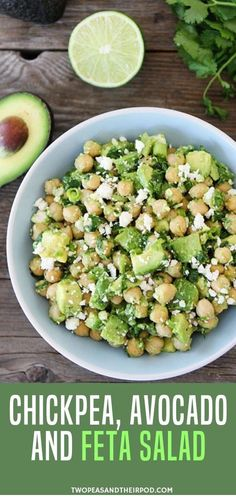 Craving for healthy vegetarian recipes but your in a rush try this chickpea avocado feta salad! it is super duper easy! probably the easiest and tastiest salad ive ever made you only need 5 minutes to make this healthy salad! Healthy Dinner Recipes For Weight Loss, Vegetarian Recipes Dinner, Healthy Snacks Vegetarian, Healthy Recipes With Avocado, Recipes For Vegetarians, Mediterranean Vegetarian Recipes, Quick Healthy Lunch, Supper Recipes, Healthy Organic Recipes