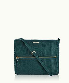 Spruce Cross-Body Bag | Embossed Python Leather | GiGi New York