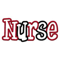 Nurse 2 Color Embroidery Machine Applique Design 2880 by kayelee, $5.00