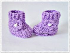 Crochet baby boots, Crochet baby booties, Purple baby shoes, Violet boots, Newborn shoes, Baby girl shoes, Crib shoes Newborn baby boots