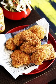 Fried Chicken with Yucca Salad