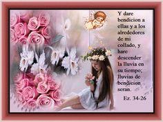 Y daré bendición a ellas y a los alrededores de mi collado - † Imágenes con Frases de Bendiciones y Cristianas †