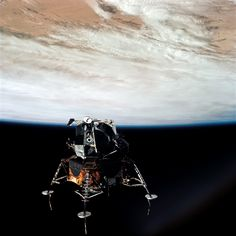 On March NASA launched the Apollo 9 mission to test the first crewed Lunar Module spacecraft that would pave the way for future moon landings. See how the mission worked in photos here. Apollo Space Program, Nasa Space Program, Cosmos, Programa Apollo, Apollo 9, Apollo Spacecraft, Nasa Photos, Moon Landing, Landing Gear