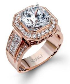 Exquisite Simon G. Engagement Ring