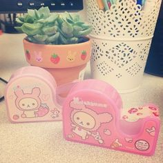 kawaii rilakkuma washi tape holders