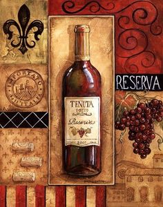 Reserva Tenuta Canvas Art - Gregory Gorham x Wine Images, Bottle Images, Wine Wall Art, Decoupage Printables, Wine Painting, Wine Photography, Cafe Art, Wine Decor, Vintage Wine