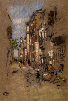 """Behind the Arsenal"", (James Abbott McNeill Whistler - 1880)"