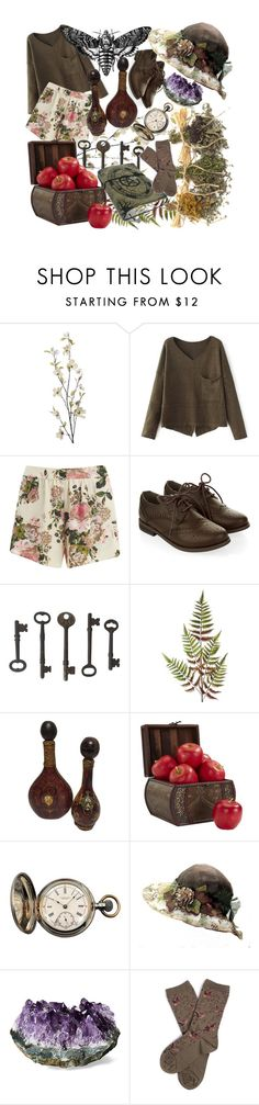 """""""Emmie"""" by lucilledestiny ❤ liked on Polyvore featuring Pier 1 Imports, VILA, Monsoon, Abigail Ahern, Nearly Natural, Tiffany & Co. and Barbour"""