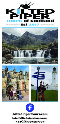 Day and multi day tours from Glasgow and Edinburgh in Scotland.