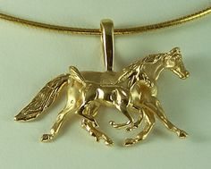 Mare and Foal Pendant JET3527A_B  The Gorgeous Horse Jewelry