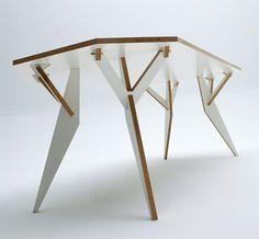 Dezeen » Blog Archive » Y Parametric table by Krystian Kwieciński
