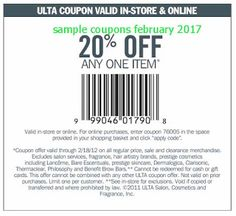 free Ulta coupons for february 2017