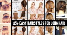 From Classy to Cute: 25+ Easy Hairstyles for Long Hair http://www.jexshop.com/