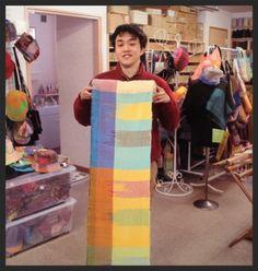 "Masanori Sato- SAORI weaver at ""Enjoy Life- Art SAORI in Japan"