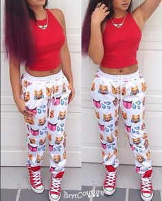 BrytCouture - Women Emoji Sweatpant Joggers Black and White, US$44.99 (http://www.brytcouture.com/women-emoji-sweatpant-joggers-black-and-white/)
